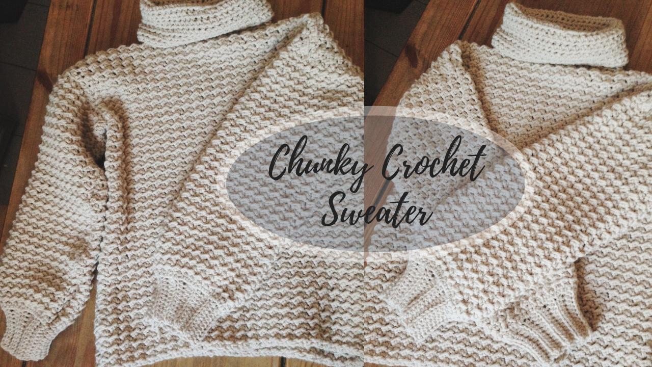 479b005891306 Crochet Chunky Sweater