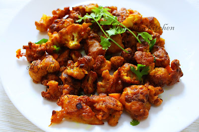 gobi 65 or cauliflower 65 fried cauliflower recipe easy simple tasty side dish