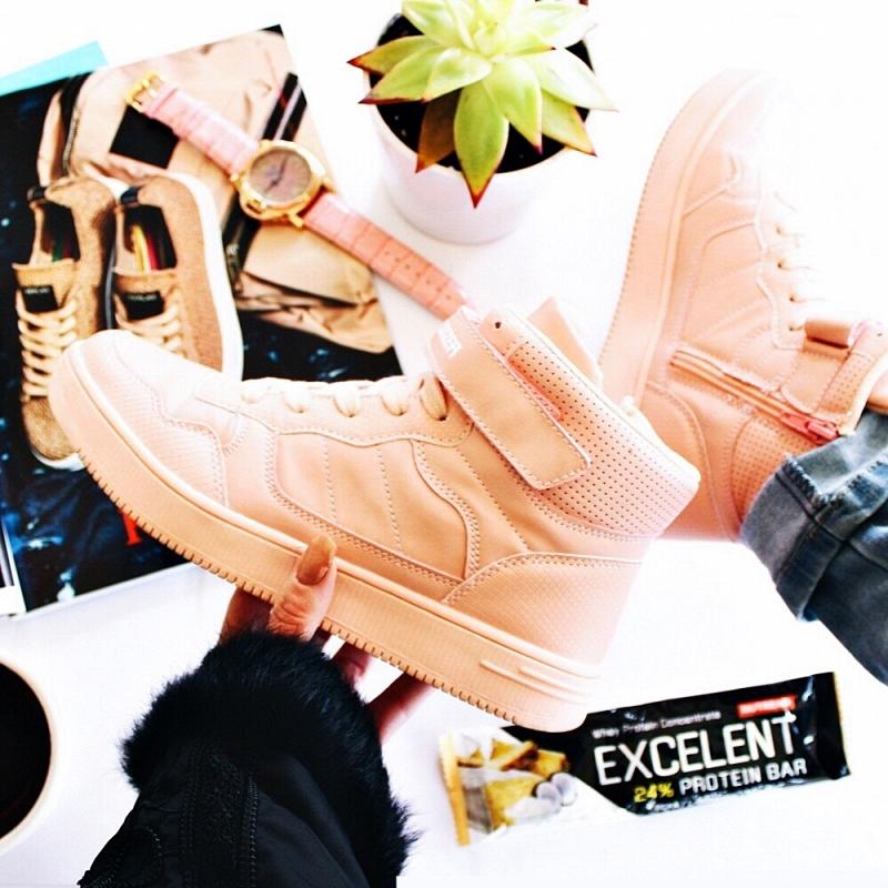 women's athleisure pink peach sneakers; pink zenske patike