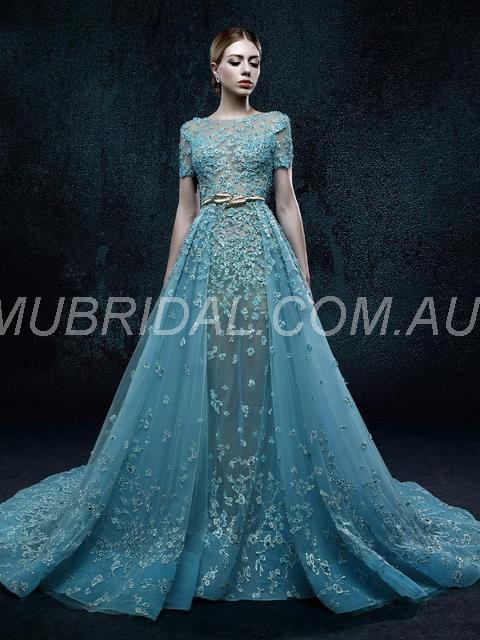 Prom Court Floor-Length Fall Evening Sashes/Ribbons Zipper-up Spring Dress (130642965)