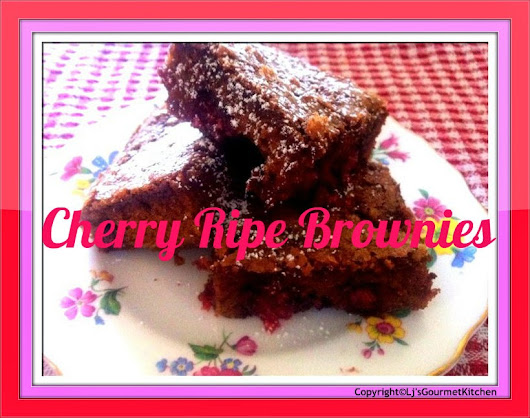 Cherry Ripe Brownies