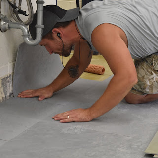 Greatmats rubber foam bathroom tiles installation