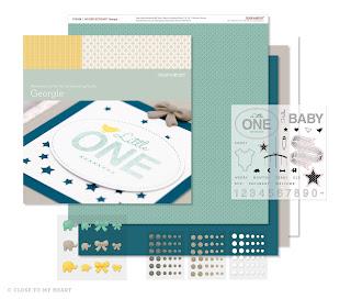 CTMH Baby Scrapbook Paper Georgie WOTG