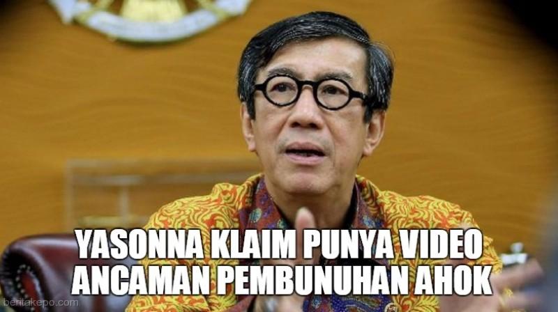 Yasonna Mengaku Punya Video Ancaman Pembunuhan Ahok