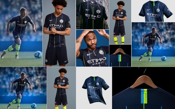 El nueva Camisetas de futbol replicas 2018 19 de Manchester City está ahora  disponible en mancity.com shop y nike.com 7b5a51e8c6548