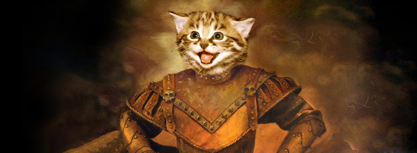 Brave Cat funny Facebook timeline