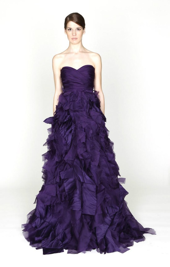 Elegant Purple Wedding Dresses Style