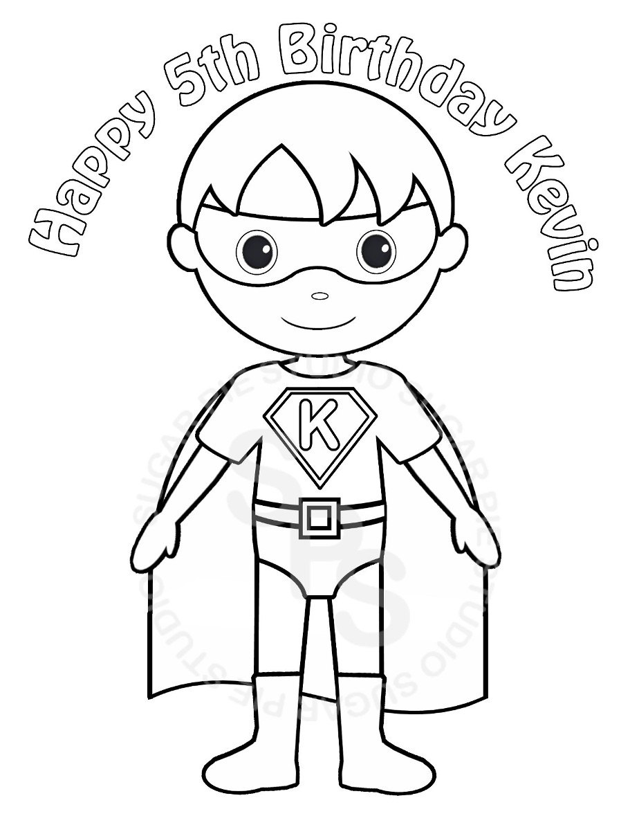 Superhero Coloring Book