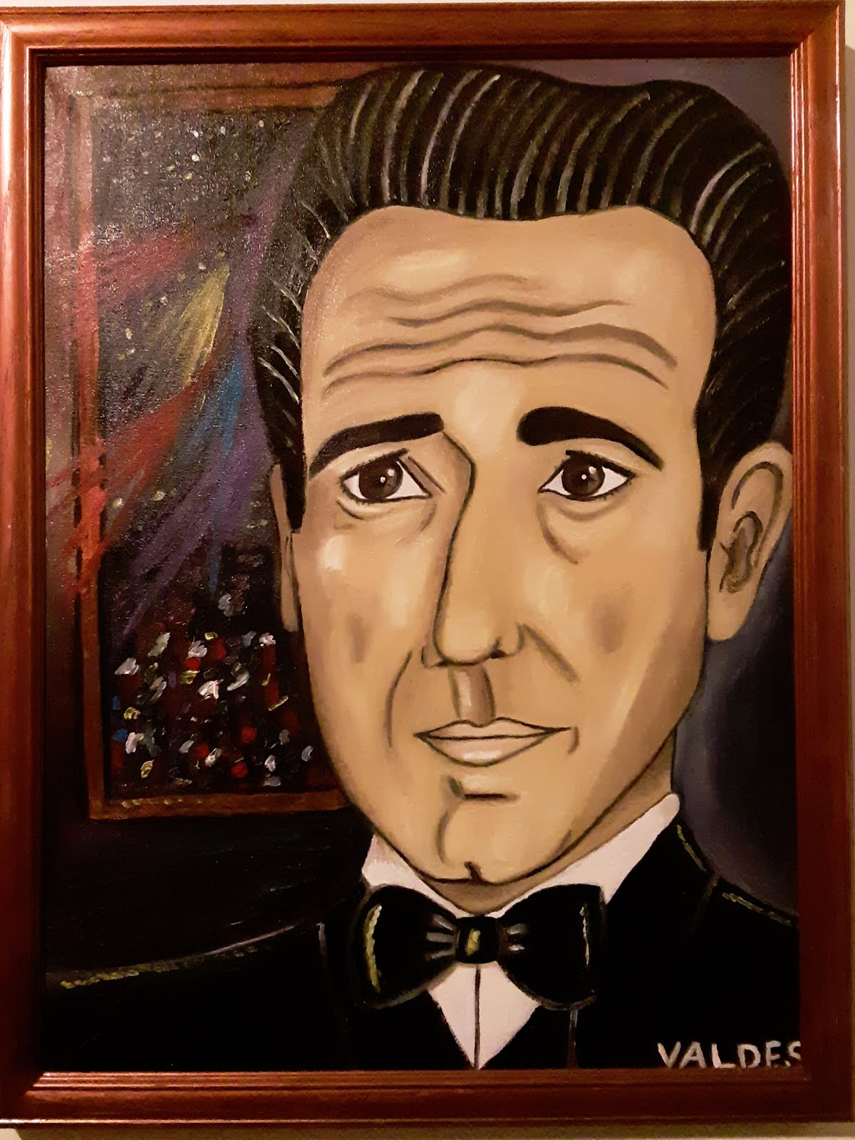 DMVAG THE BOGART 18X24 PORTRAIT OIL PAINTING