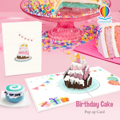 Happy birthday card - Birthday cake pop up card