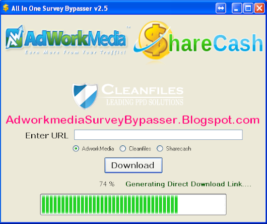 AdworkMedia CleanFiles Sharecash Survey Bypasser and Remover