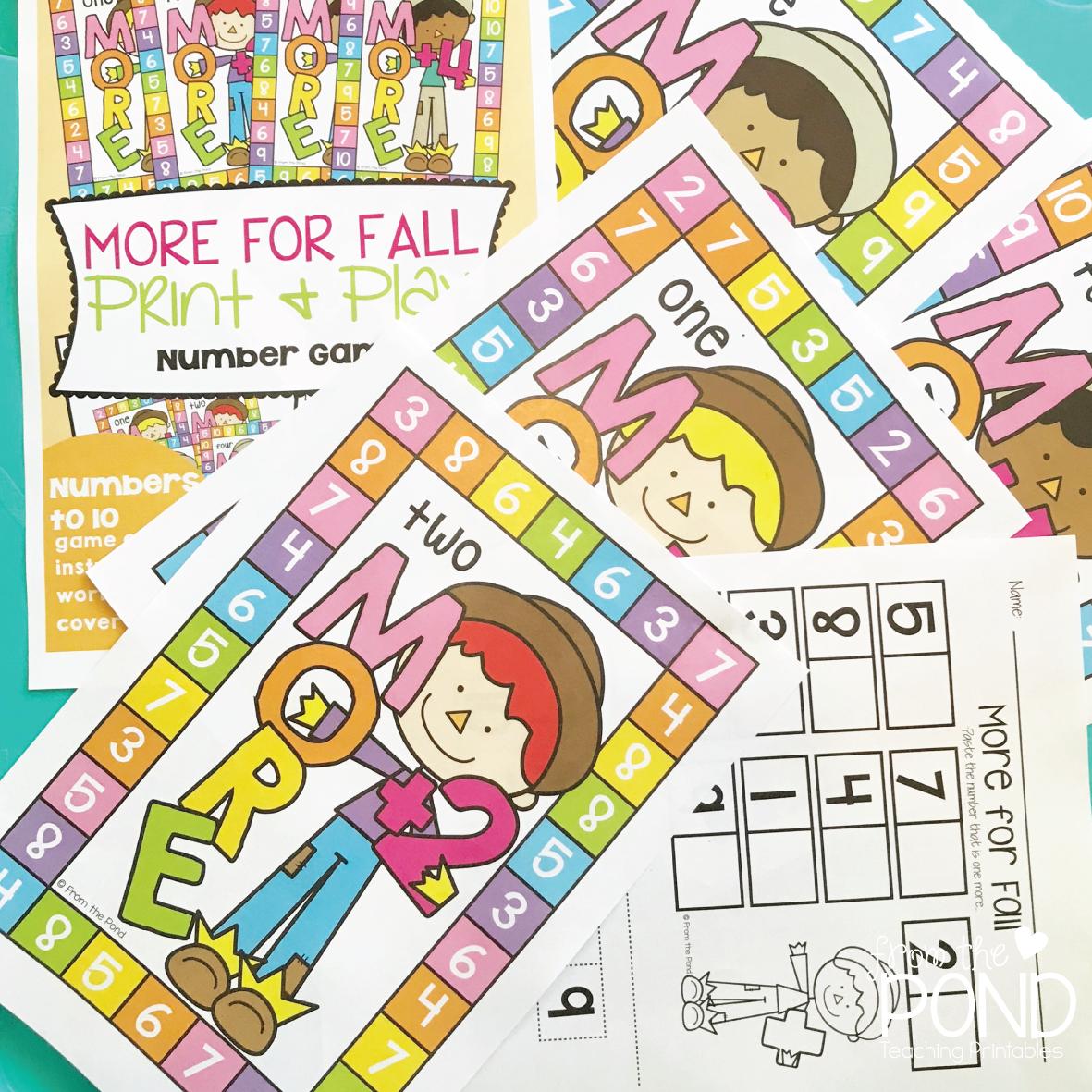 Fall Addition Math Activities