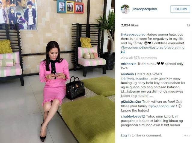 Jinkee Pacquiao defends husband Manny Pacquiao! Must read!
