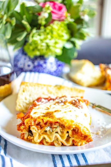 Veggie lasagna roll ups recipe