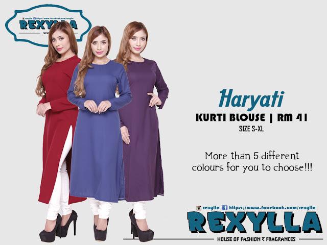 rexylla, kurti, kurti blouse, haryati collection