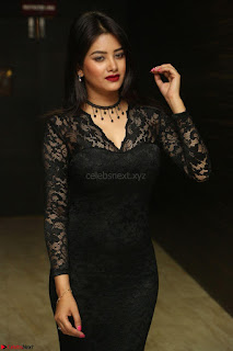 Actress Monica in spicy transparent Black Top at O Pilla Nee Valla Movie Audio Launch Feb 2017 091.JPG