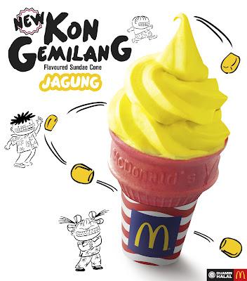 McDonald's Jagung Flavoured Sundae Cone McD Kon Gemilang Promotion