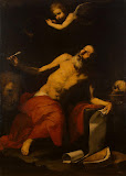 St Jerome and the Angel by Jose de Ribera - Religious Paintings from Hermitage Museum