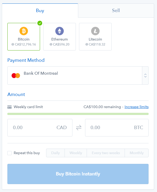 Canadian rewards how to buy bitcoin in canada the bitcoin btc you bought will be in your coinbase online btc wallet instantly note you dont need to buy one full bitcoin ccuart Gallery