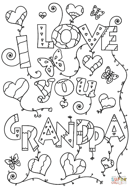 Click The Love You Grandpa Coloring Pages