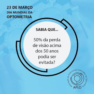 23 de março - Dia Mundial da Optometria