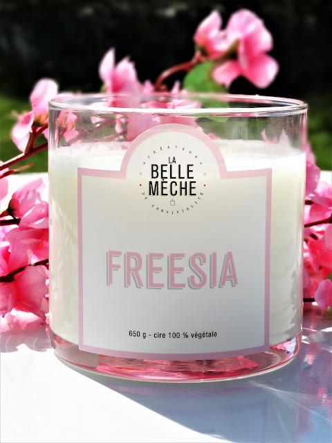 avis Bougie Parfumée 3 Mèches Freesia de La Belle Mèche, bougie parfumée, bougie, scented candles, candle, blog bougie, candle review, candle blog, bougie naturelle, bougie 3 meches