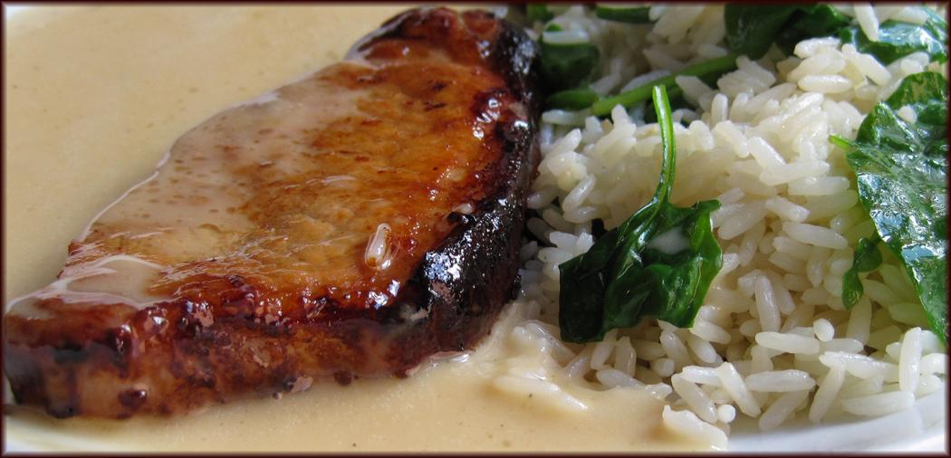 Pan-fried Pork with Apple Cider Cream Sauce