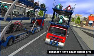 Game Robot Sepeda Transportasi Truc Apk
