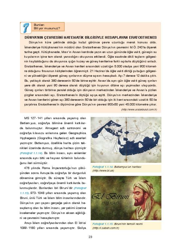 9. Sınıf Coğrafya Ders Kitabı Cevapları Fersa Yayınları Sayfa 23