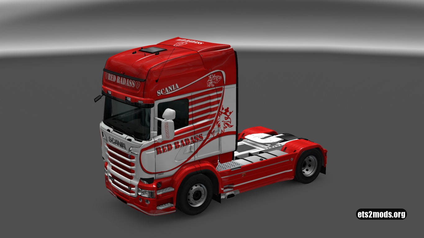 Red Badass Skin for Scania RJL