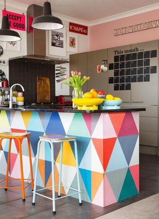 decorar piso de alquiler, decorar apartamento, empezar de cero, dibujos geométricos