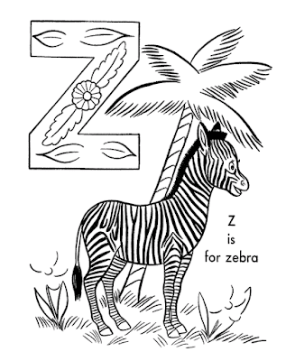 Gambar Mewarnai Zebra - 4