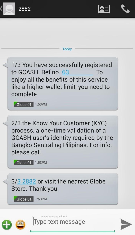 Globe GCash Account Registration using Mobile App and SIM