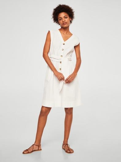 White Dress Summer Zara
