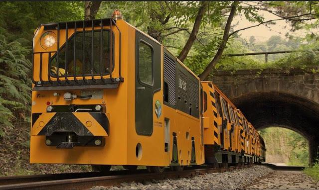 Fotografía del tren minero