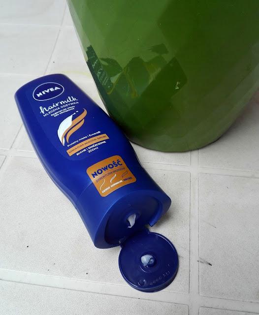 Nivea, Hairmilk, Mleczna odżywka do włosów o strukturze grubej