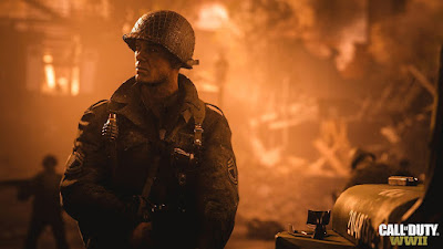 Lucha en la segunda Guerra mundial en el escuadrón bloody 1st en Call of Duty WWII