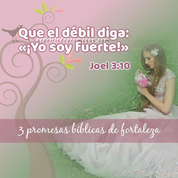 tres promesas bíblicas de fortaleza reflexiones cristianas con imágenes arcoiris de promesas