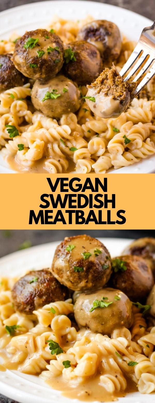 VEGAN SWEDISH MEATBALLS #vegan #glutenfree #meatballs