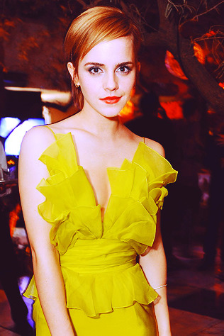 Emma Watson: Emma Watson in Yellow
