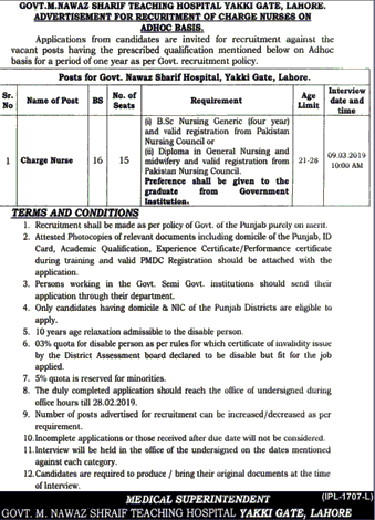 Jobs in Lahore 2019