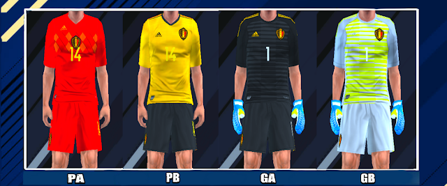 b7781bded Belgium 2018 World Cup Kits PES PSP For Emulator PPSSPP