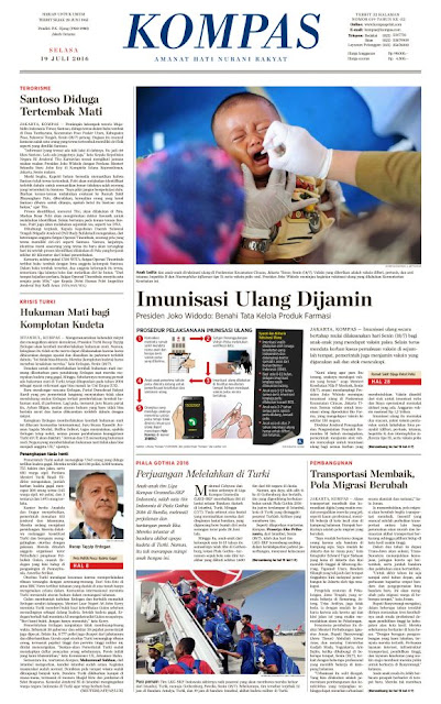 Kompas Edisi Selasa 19 Juli 2016