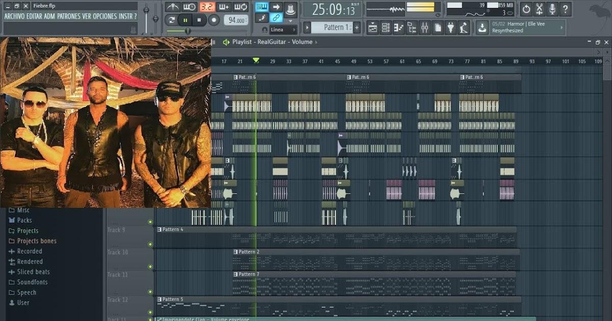 Proyecto Fl Studio Ricky Martin Fiebre Ft Wisin Yandel Flp Fx Libreria Presets Midi Hit Exclusivo