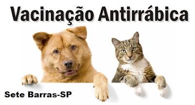 Sete Barras pretende vacinar 10 mil cães e gatos durante campanha antirrábica
