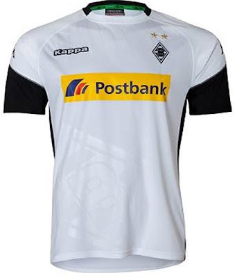 Borussia Mönchengladbach 2017 2018 Kappa Home Football Kit, Soccer Jersey, Shirt, Trikot