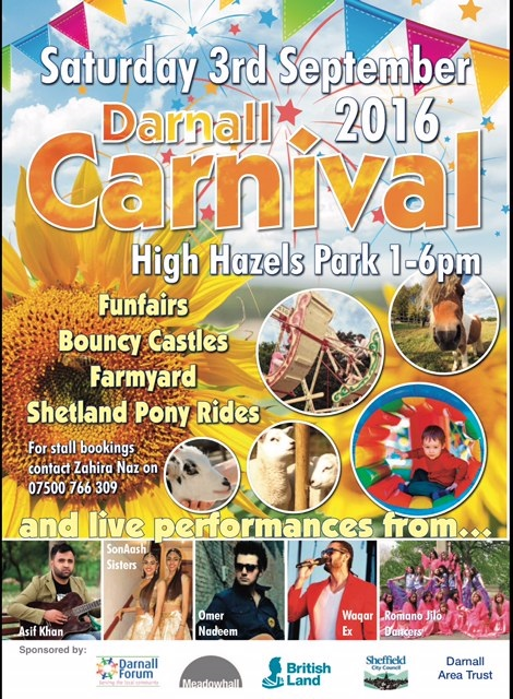 All the attractions at Darnall Carnival Sat 3 Sept 1 till 6pm