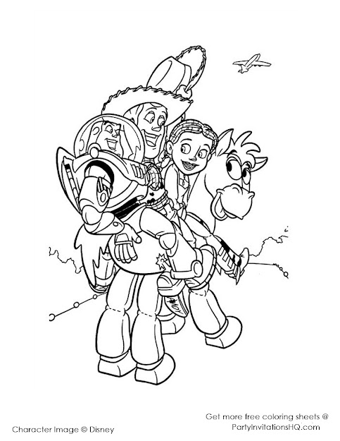 Toy Story Colouring Sheets