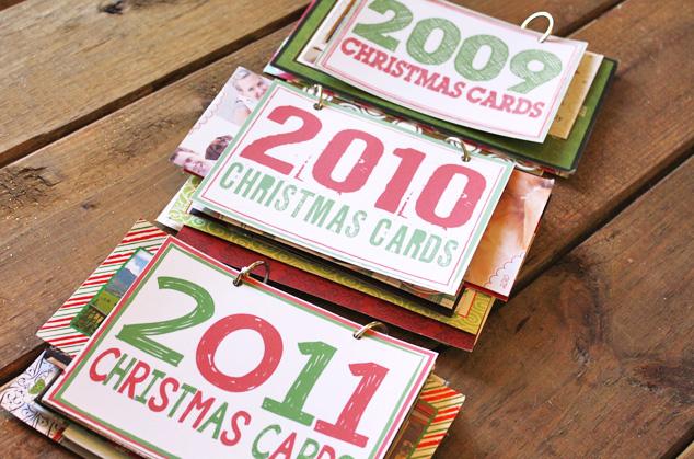 create christmas card books by oh louise