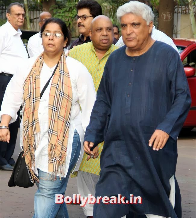 Javed Akhtar at Farooq Sheikh Prayer Meet, Celebs at Farooq Sheikh Prayer Meet